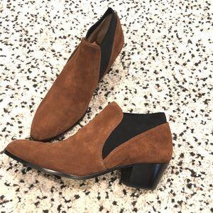 Via Spiga brown black suede booties